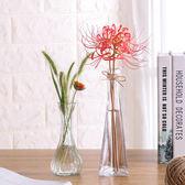 透明玻璃瓶水培植物容器綠蘿養花小花瓶干花插花客廳擺件裝飾花盆【端午節免運限時八折】