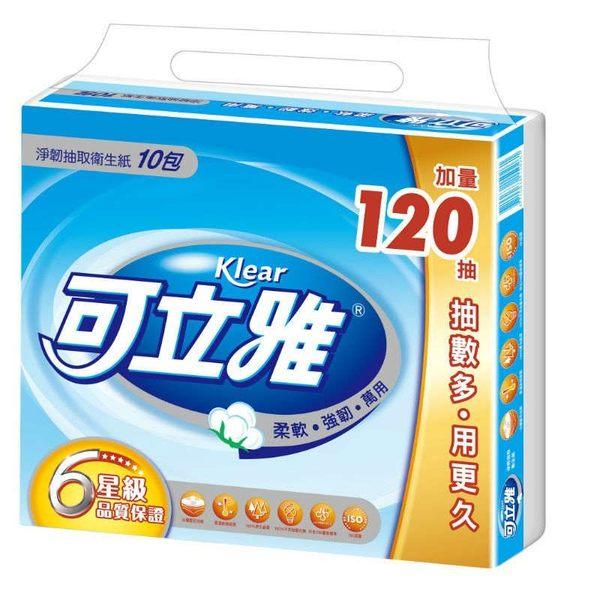 【熊熊e-shop】可立雅淨韌抽取衛生紙90+12抽 10包x10串1箱