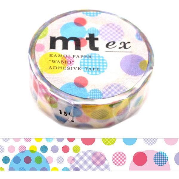 日本mt ex Masking Tape 和紙膠帶 不規則圓點 15mm