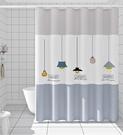 衛生間浴簾加厚防水防霉浴簾布浴室隔斷簾窗簾門簾浴簾套裝免打孔