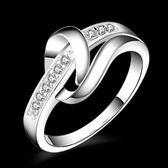 925純銀戒指 鑲鑽-獨特簡約生日情人節禮物女配件73aq56【巴黎精品】