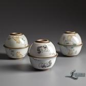 快客杯一壺一杯定制陶瓷便攜式茶具旅行小套裝隨身泡茶【邻家小鎮】