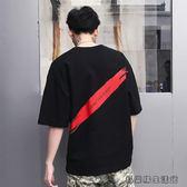 夏季新款短袖t恤男休閒寬鬆半袖體恤 易樂購生活館
