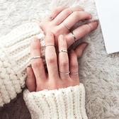 戒指 甜美 簡約 潮 指環 十件套 戒指【DD1612027】 icoca  04/20