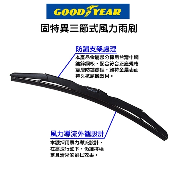 固特異 三節式風力雨刷14吋 (350mm)【亞克】