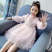 女童洋裝秋裝2020新款洋氣小女孩公主裙網紅兒童蓬蓬紗裙童裝女 梦幻衣都