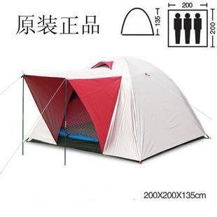 帶門廳 高山營帳篷 四人 雙層