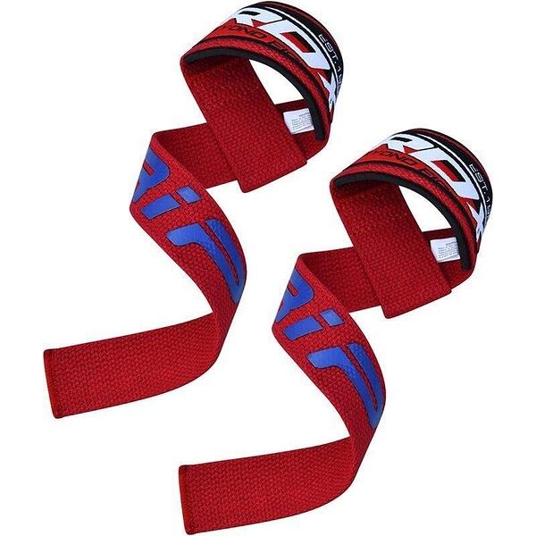 『VENUM旗艦館』RDX 英國 WAN-W2R 健身重訓 止滑凝膠助握帶 拉力帶 倍力帶 紅