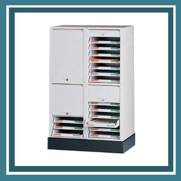 【必購網OA辦公傢俱】CP-6214+CP-02 二排二層+腳座 捲門式公文櫃 資料櫃 效率櫃