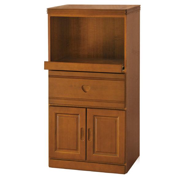 【采桔家居】漢斯 實木2尺樟木紋高餐櫃/收納櫃(拉盤式層架)