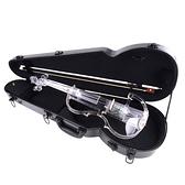 ★集樂城樂器★JYC V-300水晶靜音提琴(藍光/自動換色)~展示品出清 無琴馬/琴盒