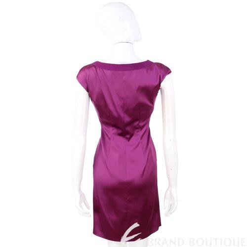 PHILOSOPHY 紫色緞面抓褶短袖洋裝 1110293-04