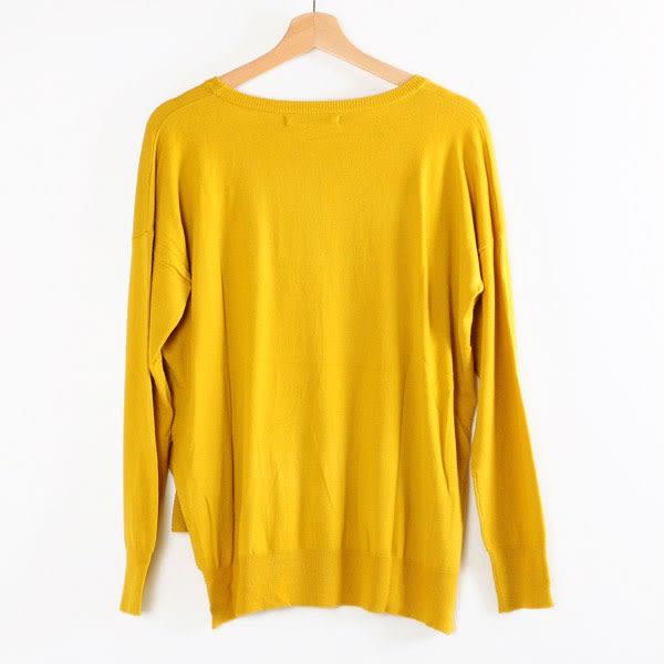 【MASTINA】前短後長造型上衣-黃  秋裝限定嚴選