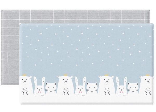 Parklon-韓國帕龍無毒PVC雙面遊戲地墊-PL-033-6雪國動物泡泡墊7200元(無法超取)