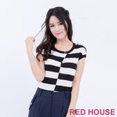 RED HOUSE-蕾赫斯-圓領條紋針織衫(共2色)