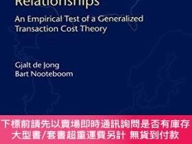 二手書博民逛書店The罕見Casual Structure Of Long-term Supply Relationships