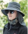 防曬帽子男士釣魚帽