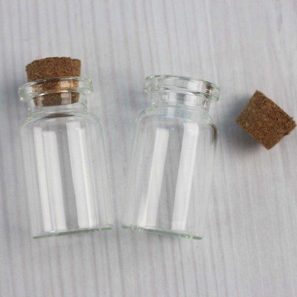 軟木玻璃罐 軟木玻璃瓶 (小)高40mm/一袋12包入(一包2個)共24個入(定15) 精油瓶 星沙瓶 瓶中信罐-AA-3107
