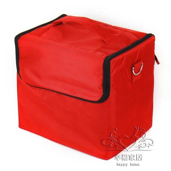手提 肩背 跨式 牛津布布藝化妝箱包 跟妝包xw【幸福家居】