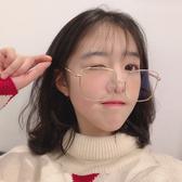 網紅周揚青款眼鏡框女韓版潮復古圓臉文藝平光鏡大框個性簡約鏡架