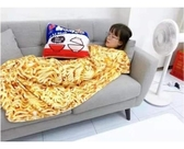 【網路爆款聖誕交換禮物】抱枕+毛毯 無力炸醬麵抱枕毯 毛絨抱枕 泡麵抱枕 抱枕 毯子午睡毛毯