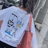 韓版卡通薄款衛衣女學生bf原宿風 概念3C旗艦店