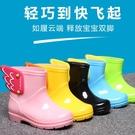 兒童雨鞋 男女童寶寶止滑雨靴 幼兒園小童內刷毛保暖靴子