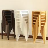 餐凳家用圓凳簡約成人餐廳坐凳時尚矮凳板凳【極簡生活館】