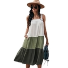 【南紡購物中心】《D Fina 時尚女裝》 度假休閒風 吊帶洋裝大擺裙