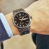 手錶男學生夜光款男士手錶潮運動鋼帶情侶正韓防水石英錶 森雅誠品