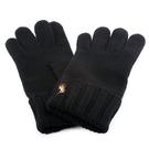 POLO RALPH LAUREN刺繡小馬logo保暖手套(黑色)780950