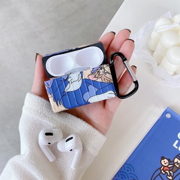 Airpods Pro 專用 1/2代 台灣發貨 [ 湯姆貓傑瑞鼠的美容覺 ] 藍芽耳機保護套 蘋果無線耳機保護