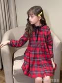 女童連身裙春秋季新款春裝洋氣兒童大童公主裙小女孩長袖裙子(聖誕新品)