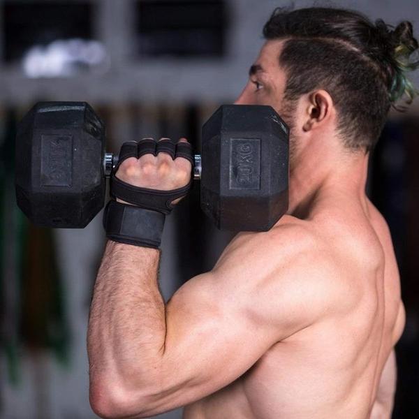 運動半指手套啞鈴耐磨瑜伽手套器械訓練健身矽膠防滑騎行護手【新年特惠】