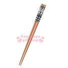 〔小禮堂〕史努比 日製木筷子《黑白.查理布朗》筷長21公分.YAMAKA 4979855-20279