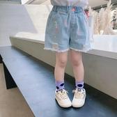女童牛仔短褲童裝流蘇褲子兒童油漆點熱褲寶寶破洞褲2020夏裝新款 艾瑞斯居家生活