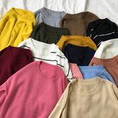 (全館一件免運費)DE SHOP~(AS-4925)基礎款長袖上衣寬鬆顯瘦套頭毛衣針織衫