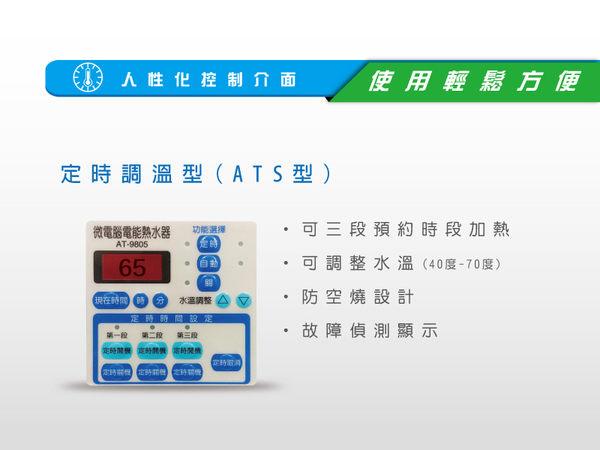 鴻茂 定時調溫型電熱水器 20加侖 EH-2002ATS 全機2年免費保固  儲存式