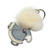 PRADA 普拉達 白色毛球造型吊飾 鑰匙圈 (手可動) CHARM 【BRAND OFF】