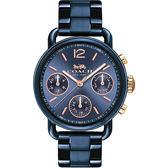Coach 紐約時尚日曆女錶-藍/36mm 14502842