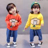 女寶寶衛衣0女童1春秋秋季新款韓版3歲嬰兒長袖加絨保暖秋衣4 CY潮流站