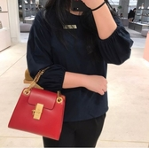 ■專櫃74折■全新真品■Chloe Mini 迷你 Annie 鎖頭金鍊2用包 紅色