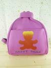 【震撼精品百貨】泰迪熊_Happy Bear~後背包『桃紫色』