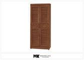 【MK億騰傢俱】BS376-01樟木色6尺高正百葉鞋櫃