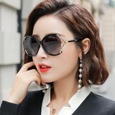 墨鏡女士韓版潮偏光太陽鏡防紫外線大臉顯瘦網紅街拍復古大框眼鏡  快速出貨