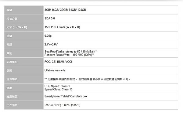 威剛 ADATA Premier micro SDHC/SDXC UHS-I Class10 32GB 終身保固