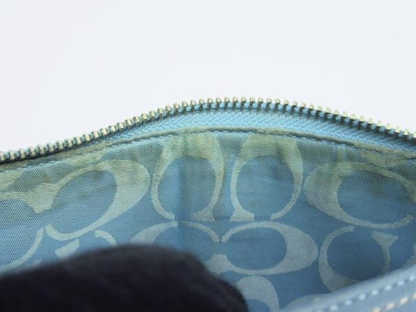 COACH 藍色牛皮肩背包 【BRAND OFF】