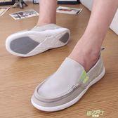(萬聖節狂歡)輕便鞋男夏季一腳蹬老北京布鞋透氣大碼休閒鞋防臭賴懶人步鞋