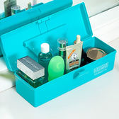 ♚MY COLOR ♚桌面提手矩形收納盒文具工具糖果色化妝品餐具藥盒分類材料箱子~K133