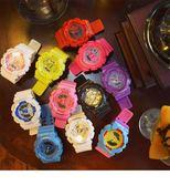 韓版復古風情侶電子錶學生男女日系原宿潮運動糖果色日韓時尚手錶【一條街】